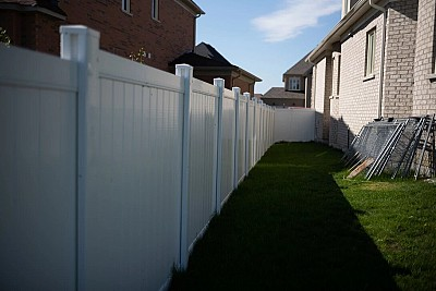 White 2 Rail,6'high, full privacy fence