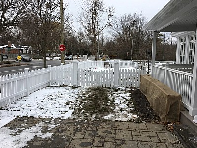 White Vinyl Cape Cod double gate