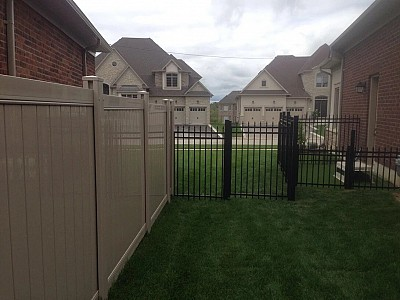 Black 6'high Aluminum Gate