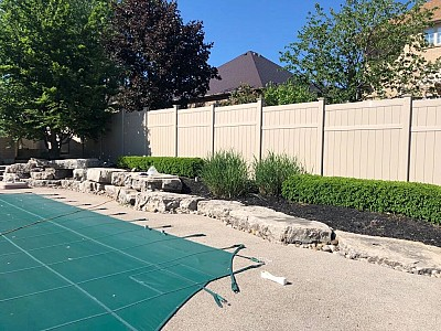 Tan, 3 Rail, Full privacy 6' high fence