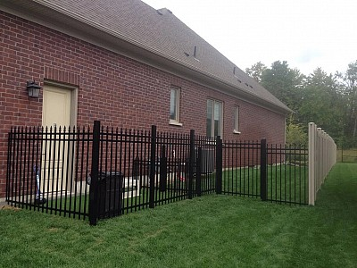 Black 6' high Aluminum fence