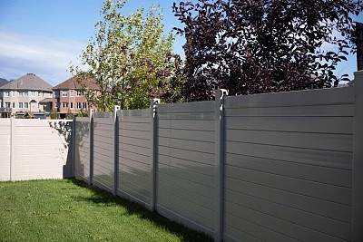 Tan, 6' high, Horizontal privacy fence