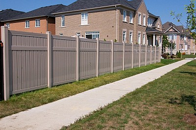 Tan, 3 Rail privacy fence